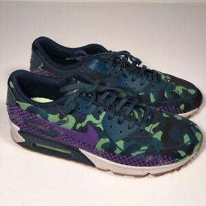 Womens Nike Air Max 90 Jacquard Premium Sneakers Purple/Camo ...