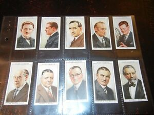 1934 Wills RADIO CELEBRITIES series 1 Tobacco cards complete EX+.  50 card set
