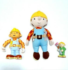 BOB-THE-BUILDER-Toys-9-034-Stuffed-Bob-The-Builder-Doll-5-034-Figure-and-3-034-Figure