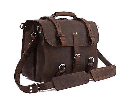 Men's Genuine Leather Cowhide Backpack Travel Handbag Duffle Gym Hiking Bags