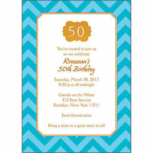 25-Personalized-50th-Birthday-Party-Invitations-BP-042-Gold-and-Blue-Chevron