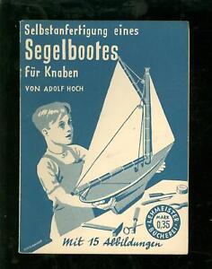 Intellektuell Selbstanfertigung Eines Segelbootes Für Knaben