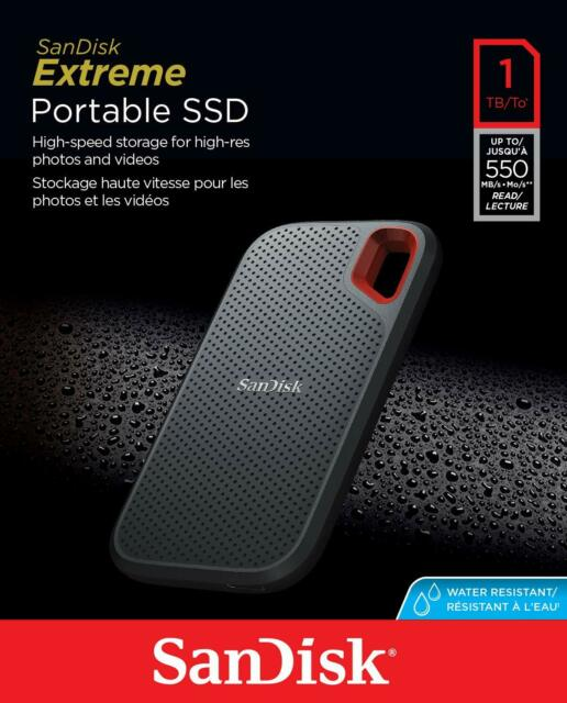 Sandisk Extreme Portable SSD 1TB Solid State Drive Type-C SDSSDE60-1T00 AU