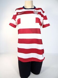 78028d166 Nike Dri Fit US Soccer Team Red & White Short Sleeve Jersey Woman ...