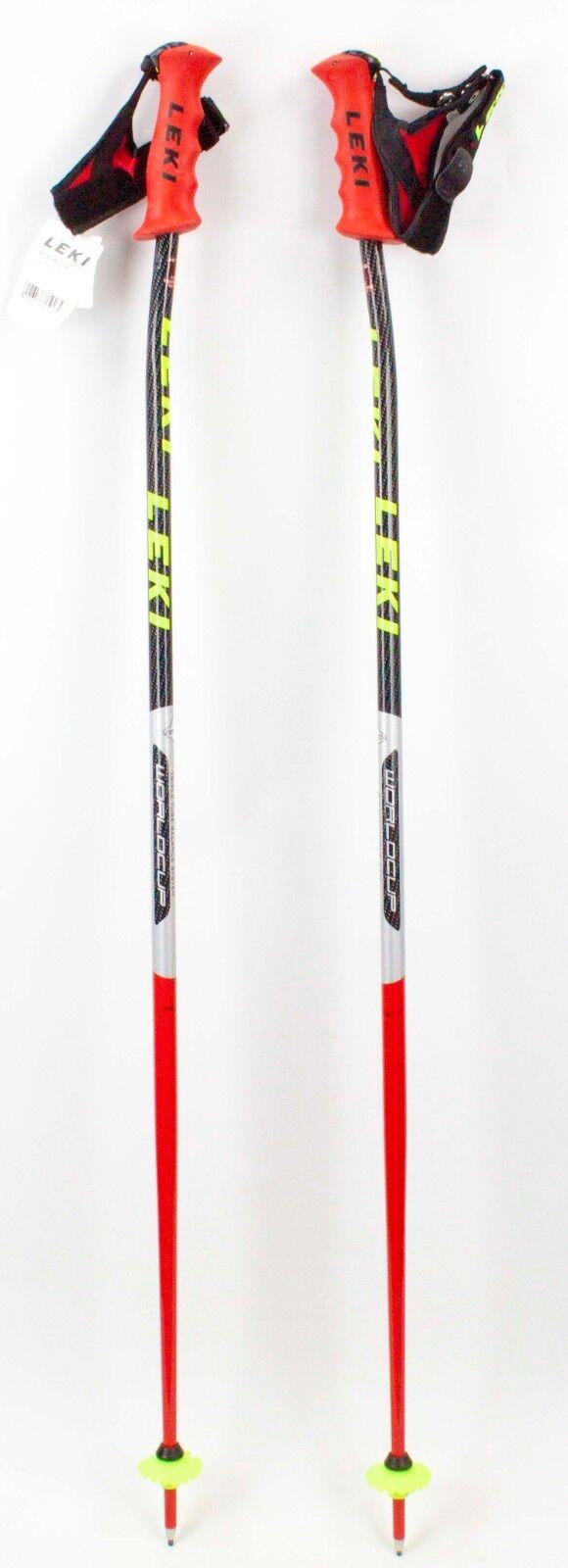NEW   250 LEKI World Cup Racing Ski Poles 130CM 52  Downhill Skiing Carbon  fashion mall