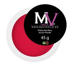 Polvere  Acrilica Rosso  Professionale MV 45 gr -  Porcellana unghie