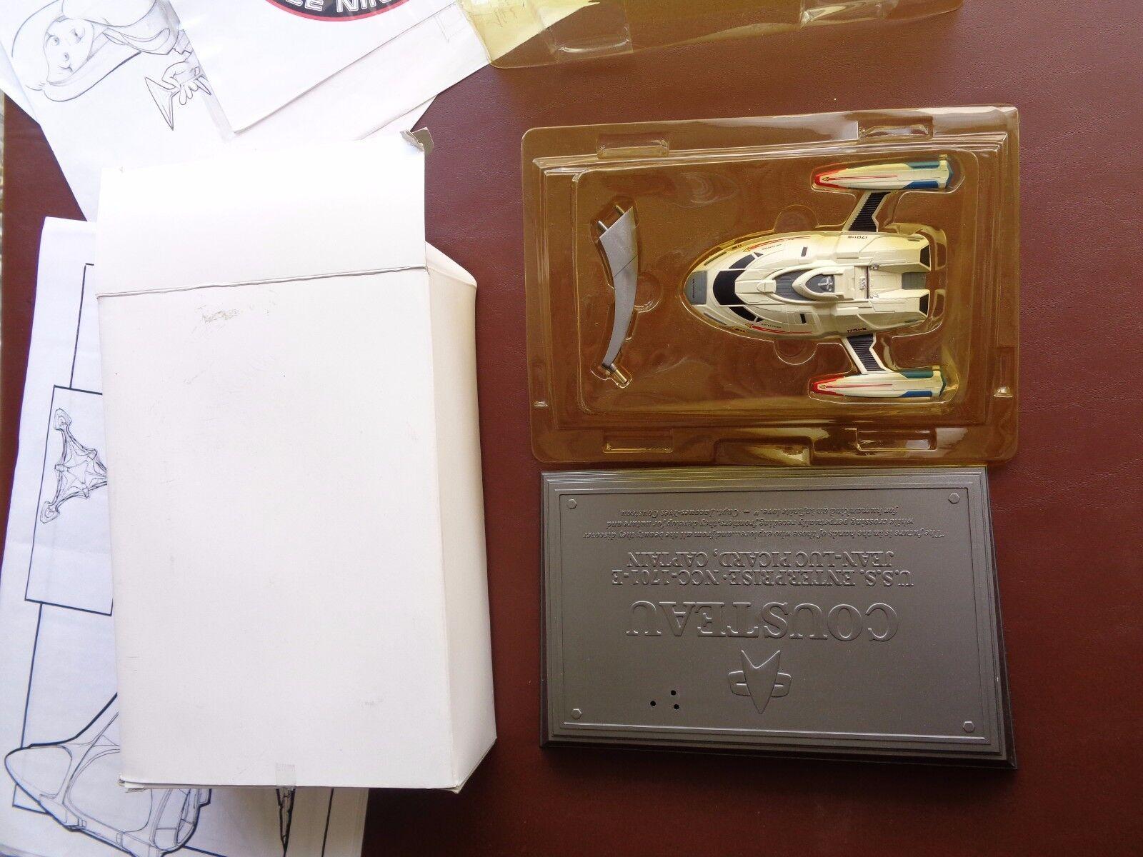 Star Trek Starfleet Captain's Yacht USS Cousteau from Insurrection Movie