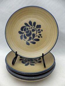 """Pfaltzgraff Folk Art pattern –  set/lot of 4 Salad plates - 7 1/8"""" - USA - EUC"""