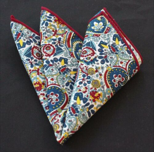Hankie Pocket Square Cotton Handkerchief Hearts with Multi Floral CH140