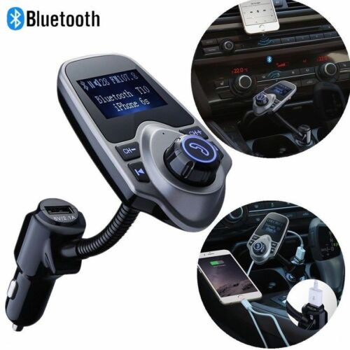 Hands-free Wireless Car MP3 Player FM Transmitter With USB Charger and Aux Cord
