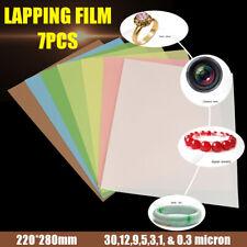 7x Lapping Film Plastic Sheets Superfinishing Polishing Paper 87inch X 11inch