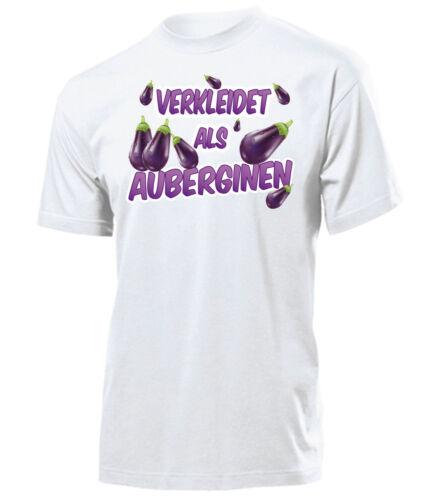 Costume Carnaval Mardi Gras Costume-habillé comme aubergine T-Shirt Homme S-XXL