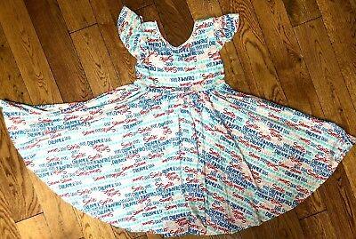 NWT Dot Dot Smile Twirly Summer dress Girls Empire Yellow polkadots