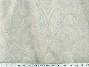 Drapery Upholstery Fabric Large-Scale Jacquard Floral Tan Blue