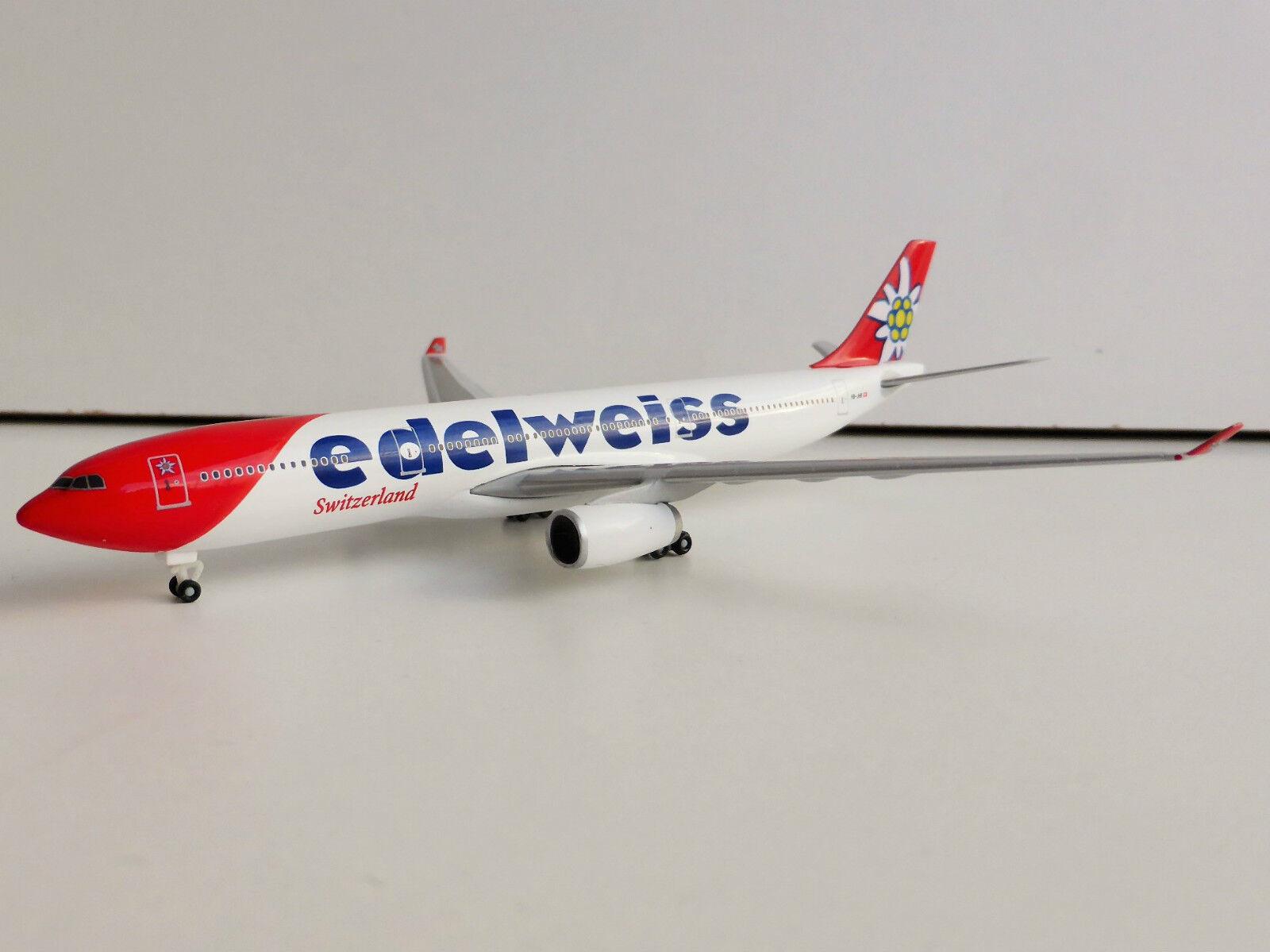 EDELWEISS AIR SWITZERLAND Airbus A330-300 1 500 Herpa 528870 A330 A 330 HB-JHR  | Verschiedene Arten und Stile