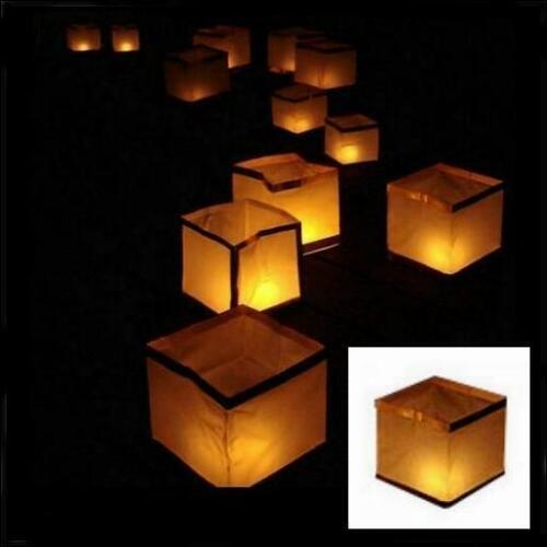 Wasserlaterne Papierlaterne mit Kerze Laterne Party Tüte Garten Hochzeit