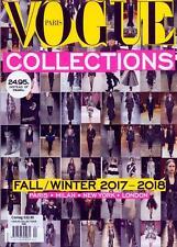 Vogue Paris Collections Magazine Fall/Winter 2017-2018 - Paris, New York, London