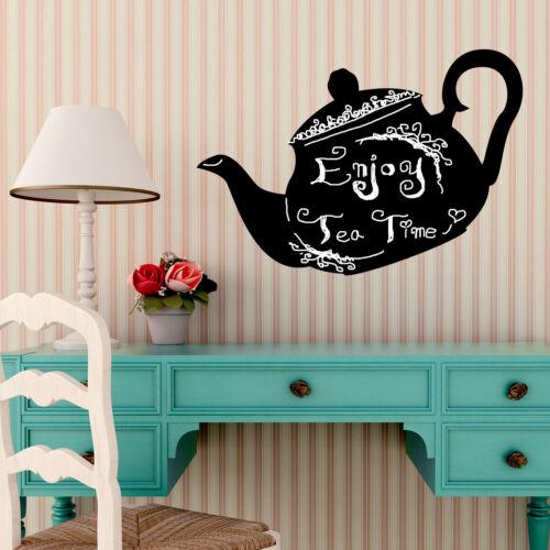 Tea Pot Blackboard Kid/'s Home Decoration Sticker Chalkboard Wall Art