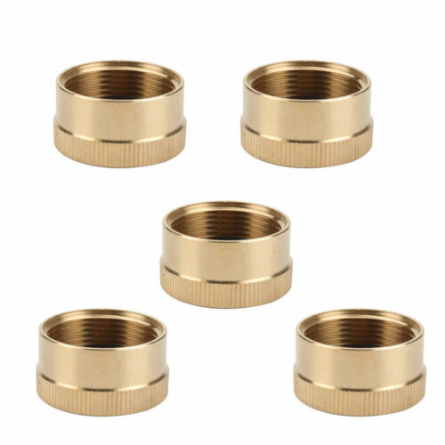 5Pcs Solid Brass Cap 1 LB Propane Bottle Small Gas Tank Cylinder Protect Cap