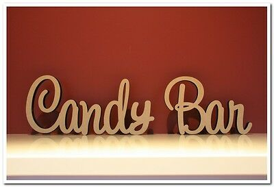 Medium  size freestanding wooden sign Candy Bar 10cm tall. Wedding decor.