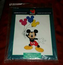Disney MICKEY MOUSE WITH BALLOONS Cross-Stitch Kit #36001 Unlimited BRAND NEW