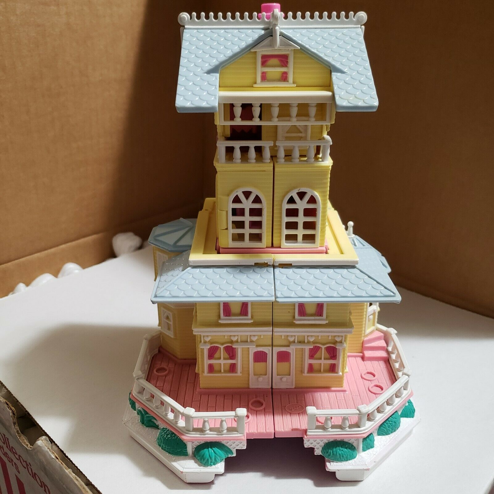Blaubird Polly Pocket Clubhouse Pollyville Mansion Gelb Vintage