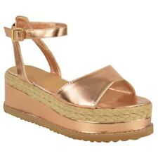 021a993a1234 item 2 WOMENS LADIES GLADIATOR FLATFORM ESPADRILLE WEDGE ANKLE STRAP  SANDALS SHOES SIZE -WOMENS LADIES GLADIATOR FLATFORM ESPADRILLE WEDGE ANKLE  STRAP ...