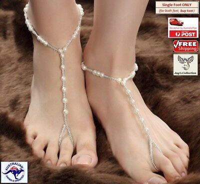 b0s2~e12 Fashion Jewelry Amiable Anklet Bracelet Beach Crystal Pearl Barefoot Sandal Foot Jewelry