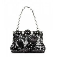 Dolce & Gabbana Sequin and Swarovski Crystal Chain Evening Bag Clutch $2195