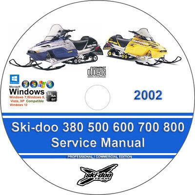 Ski-Doo Grand Touring 800 SE 2002 PDF Sled Service//Repair Workshop Manual CD