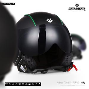 JET-CASCO MOTO-CASCO VES-PA-casco scooter retrò in pelle-Armor av-84 pure ITALY