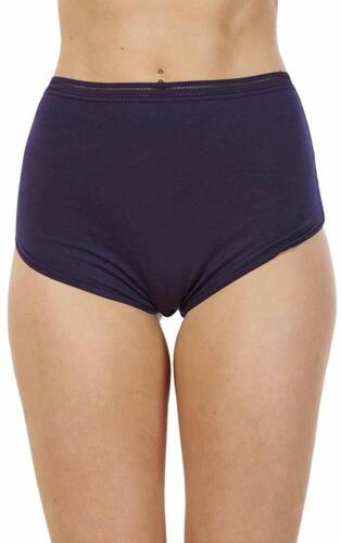Navy Blue School Knickers size 18 full briefs high waist panties modal cotton.