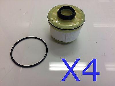 4x Fuel Filter Suits R2619P DAIHATSU DELTA TOYOTA COMMUTER BUS HILUX KUN16 KUN26