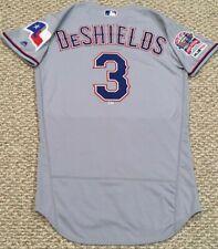 DELINO DeSHIELDS size 42 #3 2019 Texas Rangers game jersey road gray MLB HOLO