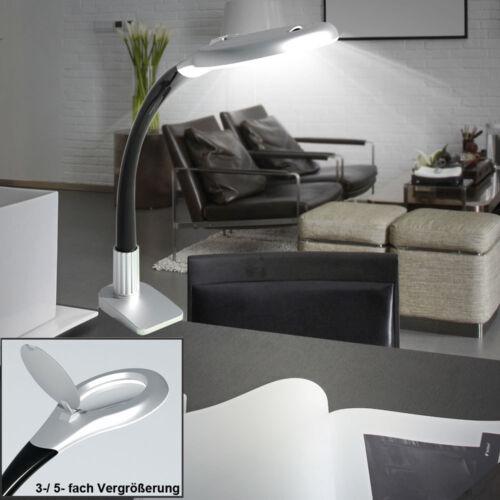DEL de Bureau Pince Projecteur de travail chambre 3x 5x Loupe Lecture Lampe Mobile