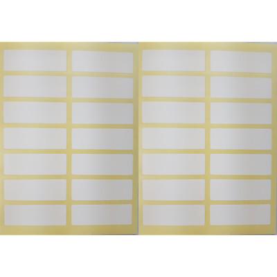 Klebeetiketten weiß selbstklebend Tiefkühl Gefrier Etiketten 80 mm x 40 mm NEU