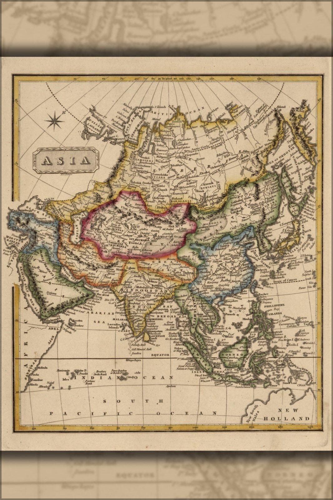 Poster, Many Größes; Map Of Asia 1817