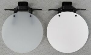 Eye-Patch-WHITE-OPAQUE-WHITE-SOLID-or-BLACK-Clip-On-Flip-Up-Occluder