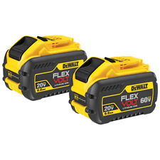 DeWALT DCB609-2 20-Volt/60-Volt 9.0Ah MAX FLEXVOLT Lithium-Ion Battery - 2 Pack