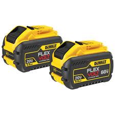 DeWALT DCB609-2 20-Volt/60-Volt 9.0Ah MAX FLEXVOLT Lithium-Ion Battery - 2 Pack