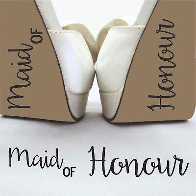 Il Migliore Damigella D'onore Matrimonio Divertente Sposo Spose Adesivo Decalcomania Scarpa Rimovibile In Vinile- Lucentezza Luminosa
