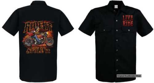 Shirt Modell Ride Worker VintagehdBikerchopperamp; Oldschoolmotiv It Like rdoBCexW
