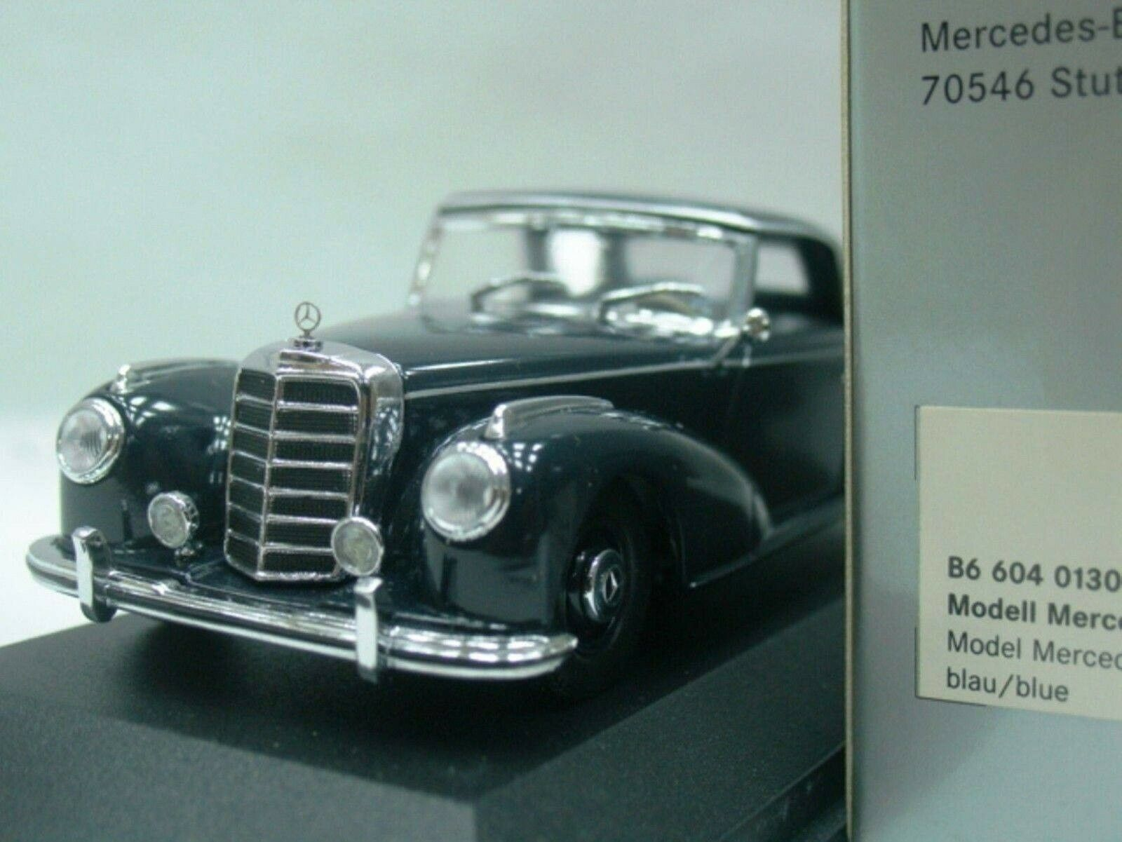 WOW EXTREMELY RARE Mercedes W188 300S Hard Top Blau 1 43 Minichamps-180 200 220