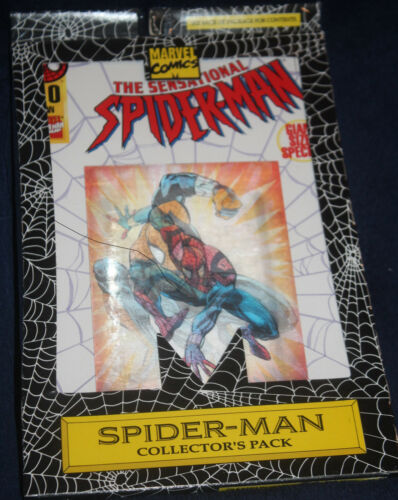 1995 LENTICULAR SENSATIONAL SPIDERMAN #0 WEB OF SCARLET 3 COMIC MINT IN PACK LOT