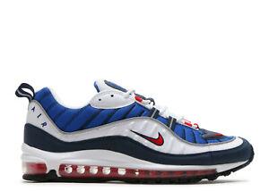Dettagli su Nike Air Max 98 QS White Red Obsidian Royal Blu Uomo Donna Air Max 98