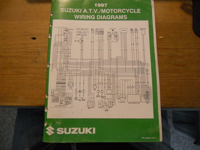 Suzuki Atv Motorcycle Wiring Diagrams 1997
