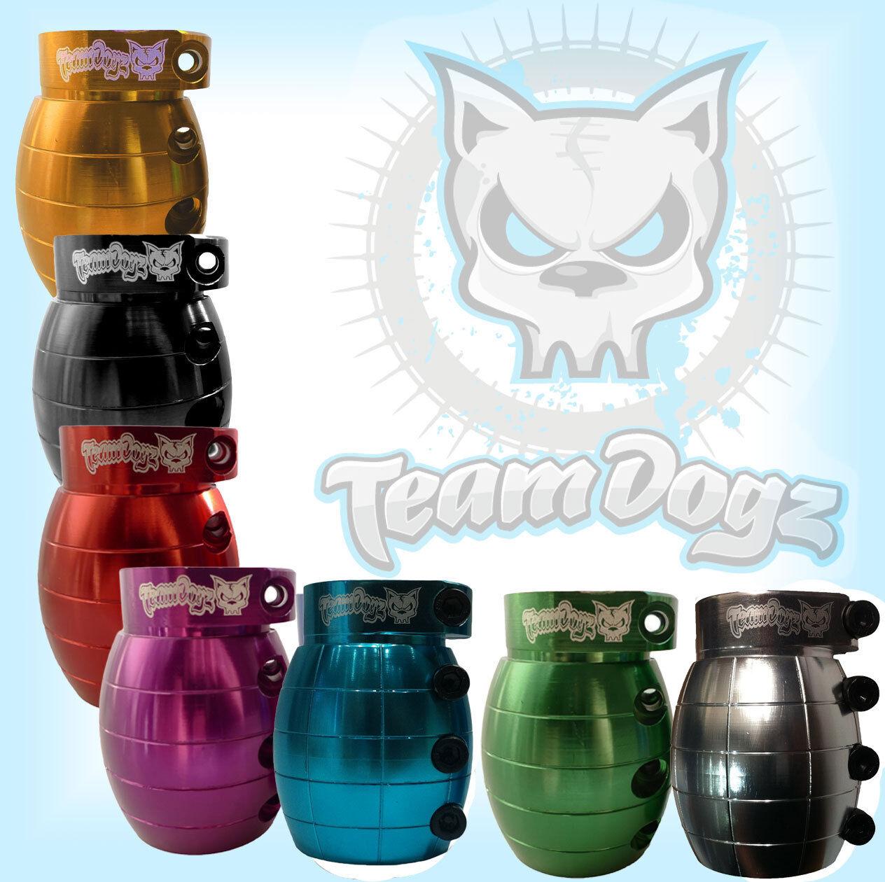 Team Dogz Grenade Pro Roller Klemme Passungen MGP Slamm Rasierer Blazer JD-Bug  | Merkwürdige Form
