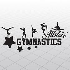 Gymnastics Vinyl Girl Gymnast decal, vinyl wall Gymnast sticker, Gymnast Allstar