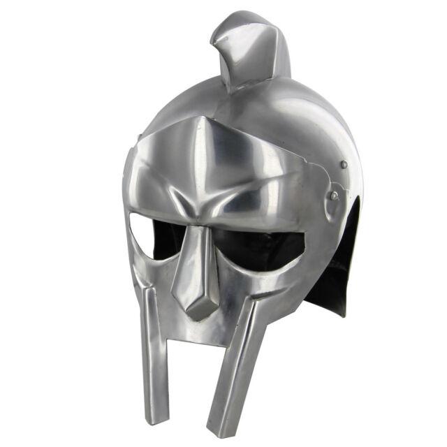 Handmade Rhino Armor Gladiator Polished 20g Mild Steel Functional Helmet  Armor