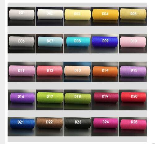 10 Farben Tüll 15cm breit 22,8 Meter Tutu Tischband Tüllrolle Glitter 0,34€//m